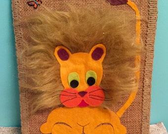 70s Vintage Lion Wall Art