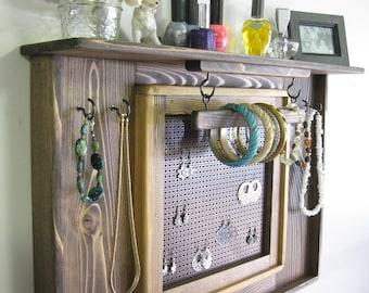 Jewelry Organizer, Jewelry Display, Earring screen, Jewelry Holder, Bracelet Bar, Jewelry Storage