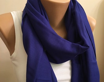 Pashmina Deep Blue Scarf, Blue scarf, Fringed Scarf, Stylish Scarf, Accessory, Women Fashion, Fashion, Accessorise, gift for her