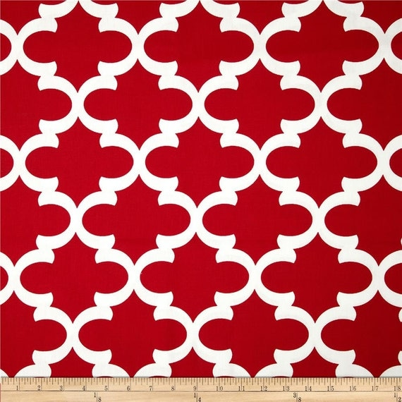 Red Valance. Moroccan. Window Treatment. Moroccan Trellis