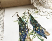 "NEW SMALL Pretty ""Faerie wings of the nights sky"" earrings"