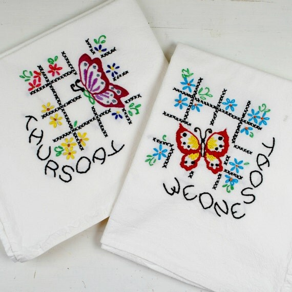 Days Of The Week Kitchen Towel Set