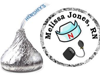 216 NURSE GRADUATION hershey kiss kisses labels personalized labels