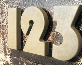 Concrete Address Numbers / Modern House Numbers