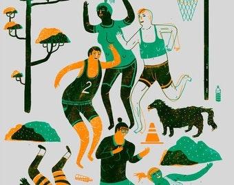 La partie de basketball