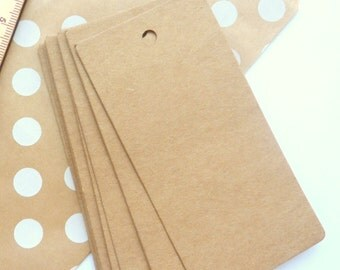 25 Brown Kraft Paper Gift Tags Price Tag Crafts 10 x 5cm