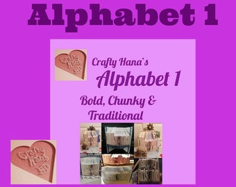Book Folding Alphabet - ALPHABET 1 - Traditional,Bold, Classic Font (75 Letters, Numbers & Symbols)-PDF - Instant Download
