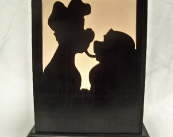 Lady and the Tramp wooden lantern