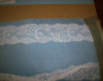 Antique lace by the yard or roll white lace french  1920 yardage pure cotton