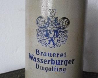 Vintage Brauerei Wasserburger Dingolfing German Beer Mug