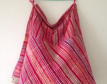 Vintage Skirt, Red Flared Skirt, Midi Skirt,Ethnic Indian Skirt,Plus size skirt,Tribal block print fabric, Boho print, Womens Skirt, Size XL