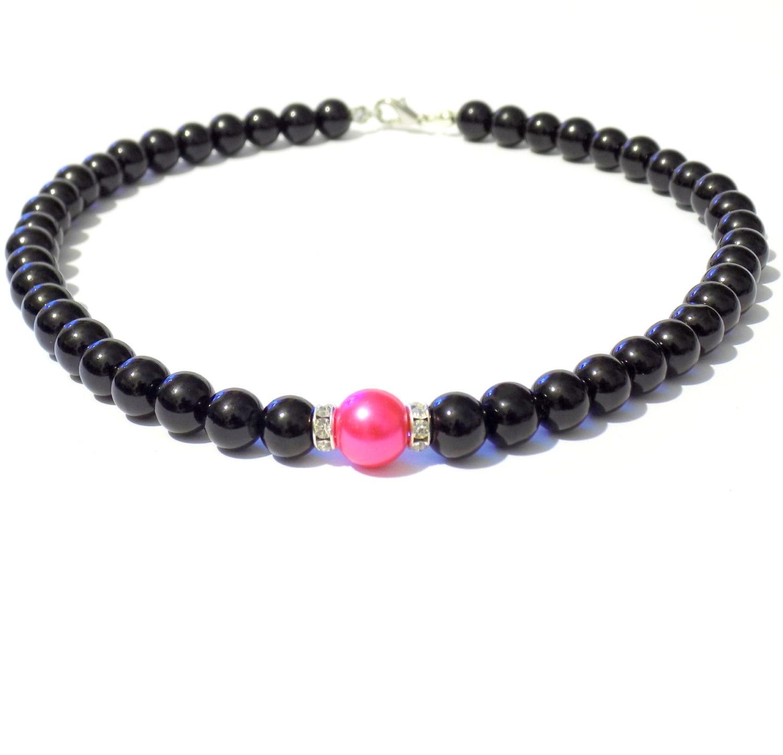black and pink pearl necklace pink pearl necklace black. Black Bedroom Furniture Sets. Home Design Ideas