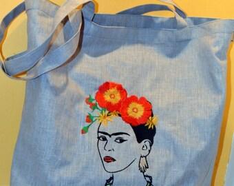 Frida Kahlo bag with embroidery. FRIDA bag