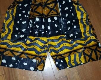 African Mud Print  Shorts