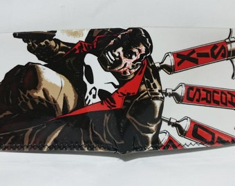 Punisher 1 - recycled comic book wallet - slim wallet - hanmade wallet - card holder - thin wallet - vinyl wallet - men's wallet
