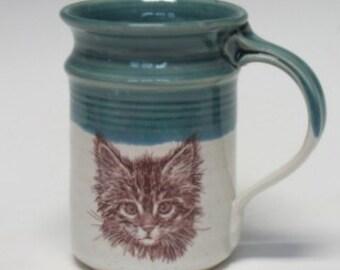 Hand-crafted Kitten Mug