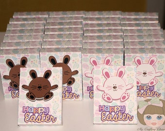 Conversation Easter Treat Boxes-Treat Box Sets-Treat Boxes-Easter Favor Boxes-Classroom Party Boxes-Gift Boxes-Bunny