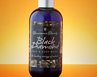 Black Diamond Face/Body Cleanser. Men's Face/Body Wash. Acne Body Wash, Organic Castile Soap, Oily Skin Face Wash, Charcoal Body Wash