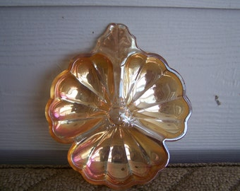 Vintage Carnival Glass Iridescent Dish