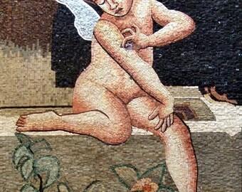 Cherub Stone Mosaic