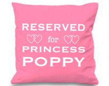 Personalized Pillow, Reserved for Princess ANY NAME, Custom Pillow, Princess Cushion, Girl Gift, Gift For Daughter, Gift For Niece