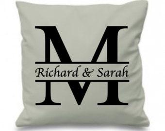 Custom Wedding Gift, Wedding Pillow, Split Design, Monogram Gift, Gift For Newly Married Couple, Ring Bearer Pillow, Wedding Cushion