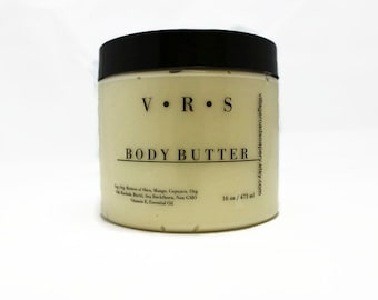 Organic Whipped Body Butter with Shea and Mango Butter in 7 Scents + Unscented