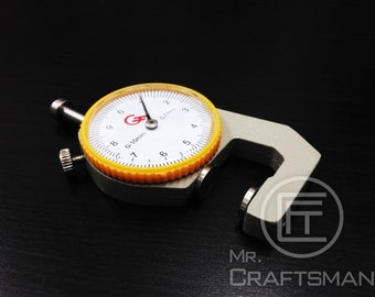leather craft tool dial leather thickness gauge measuring tool