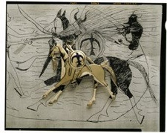 Sitting Bull (His Ledger Drawing) German Silver Pin