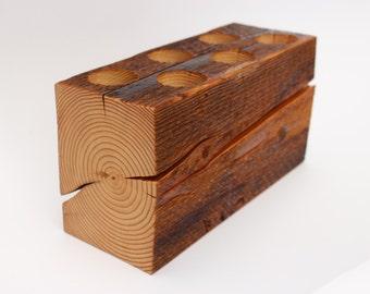 Wood Desk Organizer / Desk Organizer Barnwood / Rustic Office / Artist Caddy by Recovered Design