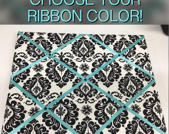Damask French Memo Board Choose your ribbon color!