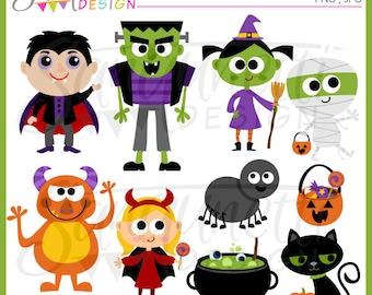 Halloween Clipart, Frankenstein Clipart, witch clipart, vampire clipart, pumpkin clipart, instant download