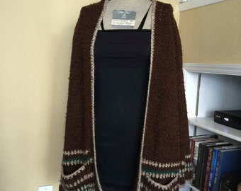Brown Slouchy Cardigan Sweater