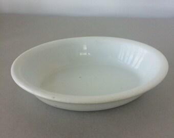Antique White Ironstone Bowl - Burgess & Goddard   white serving bowl, vegetable bowl, english ironstone, royal patent ironstone   England