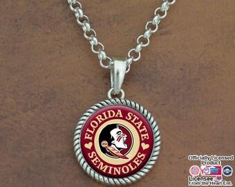 Florida State Seminoles Rolo Necklace - FSU55898