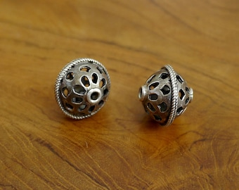 Vintage Sterling Silver Yemenite Beads