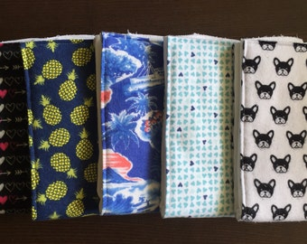 Cloth diaper burp cloths