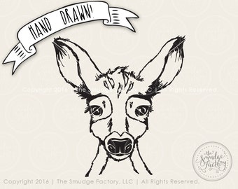 Fawn SVG Cut File, Woodland Animal Cutting File for Silhouette SVG, Cricut Download, Cute Baby Deer Graphic Overlay Clipart Forrest Animal