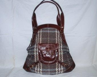 Hayden Harnett ANA Handbag Plaid and Leather