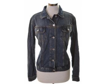 Sisley Womens Denim Jacket Large Blue Cotton