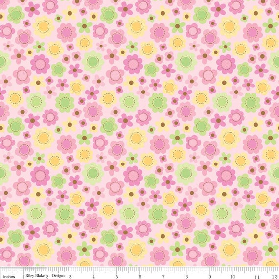 Sweet baby girl pink floral fabric for Baby girl fabric