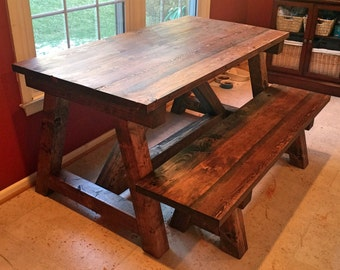 Farm Style Trestle Table: The Federal Hill