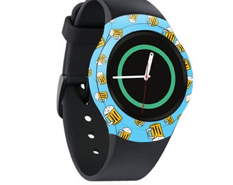 Skin Decal Wrap for Samsung Gear S2, S2 3G, Live, Neo S Smart Watch, Galaxy Gear Fit cover sticker Beer Tile