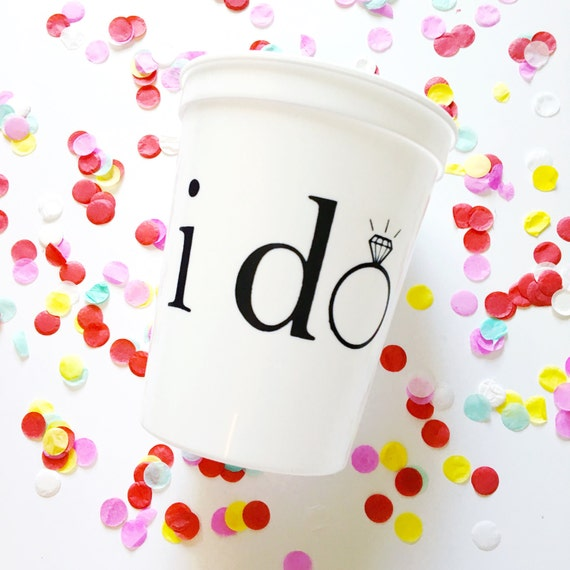 bachelorette party cups, I do cups, wedding tumblers, bride to be, engagement gift, bachelorette bash