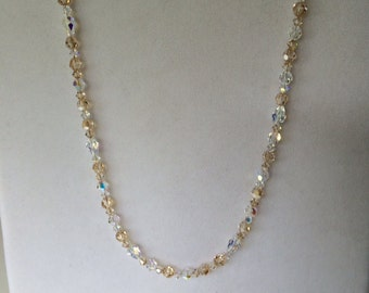 Crystals champagne necklace