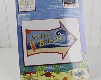 To the Beach Counted Cross Stitch Kit, Sapna, Janlynn, K113