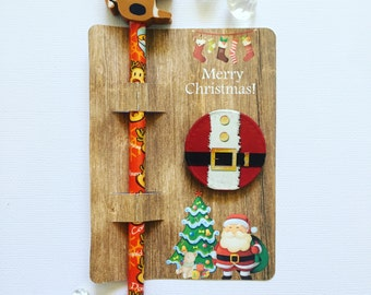 Christmas pencil and chocolate coin cards