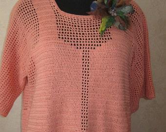 Handmade . Tunic crochet . Cotton . Womens tunic