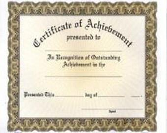 Certificate of Achievement (C1130)