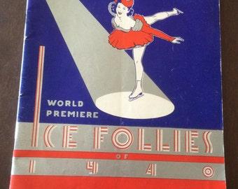 World Premiere Ice Follies program 1940
